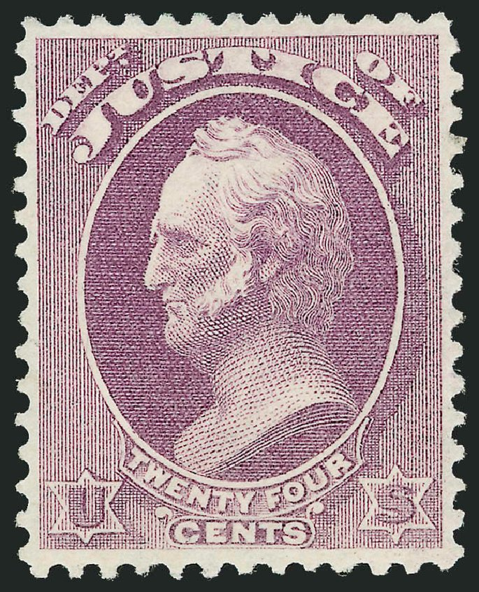 Prices of US Stamps Scott Cat. O32: 1873 24c Justice Official. Robert Siegel Auction Galleries, Oct 2010, Sale 997, Lot 6266