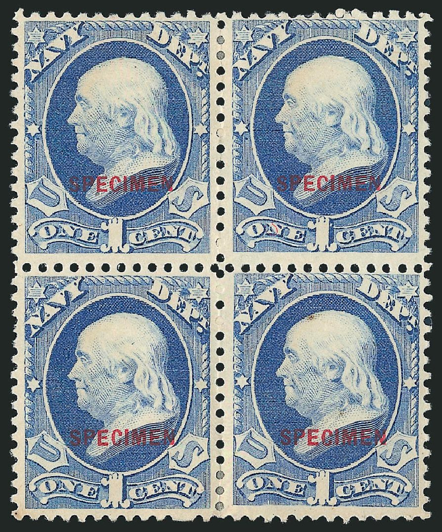 Values of US Stamps Scott Cat. # O35: 1873 1c Navy Official. Robert Siegel Auction Galleries, Mar 2015, Sale 1095, Lot 667
