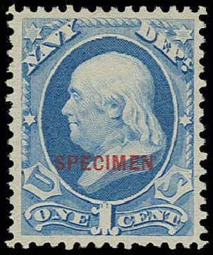 Costs of US Stamps Scott Cat. # O35: 1873 1c Navy Official. H.R. Harmer, Jun 2013, Sale 3003, Lot 1601