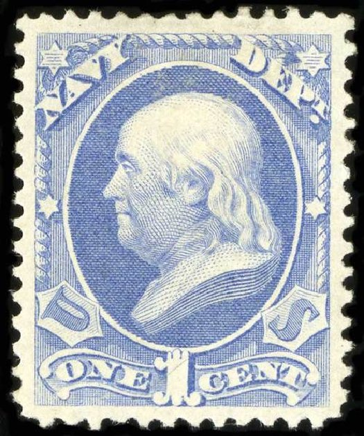 US Stamp Price Scott # O35 - 1873 1c Navy Official. Spink Shreves Galleries, Jul 2015, Sale 151, Lot 391