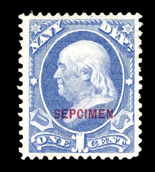 Costs of US Stamps Scott Catalog # O35: 1c 1873 Navy Official. Spink Shreves Galleries, May 2014, Sale 148, Lot 395