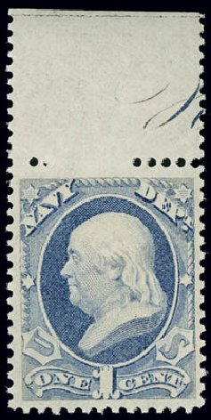 Price of US Stamps Scott Cat. O35 - 1873 1c Navy Official. Matthew Bennett International, Jun 2008, Sale 328, Lot 1223