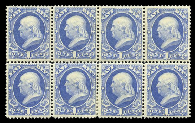 Value of US Stamps Scott Cat. #O35: 1c 1873 Navy Official. Matthew Bennett International, Mar 2011, Sale 336, Lot 1403