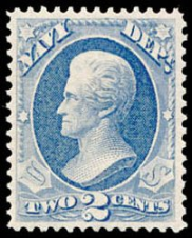 Price of US Stamps Scott Catalogue #O36: 1873 2c Navy Official. Schuyler J. Rumsey Philatelic Auctions, Apr 2015, Sale 60, Lot 2568