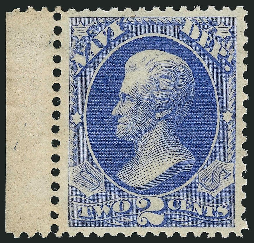 US Stamp Values Scott Cat. # O36: 1873 2c Navy Official. Robert Siegel Auction Galleries, Feb 2015, Sale 1092, Lot 1458