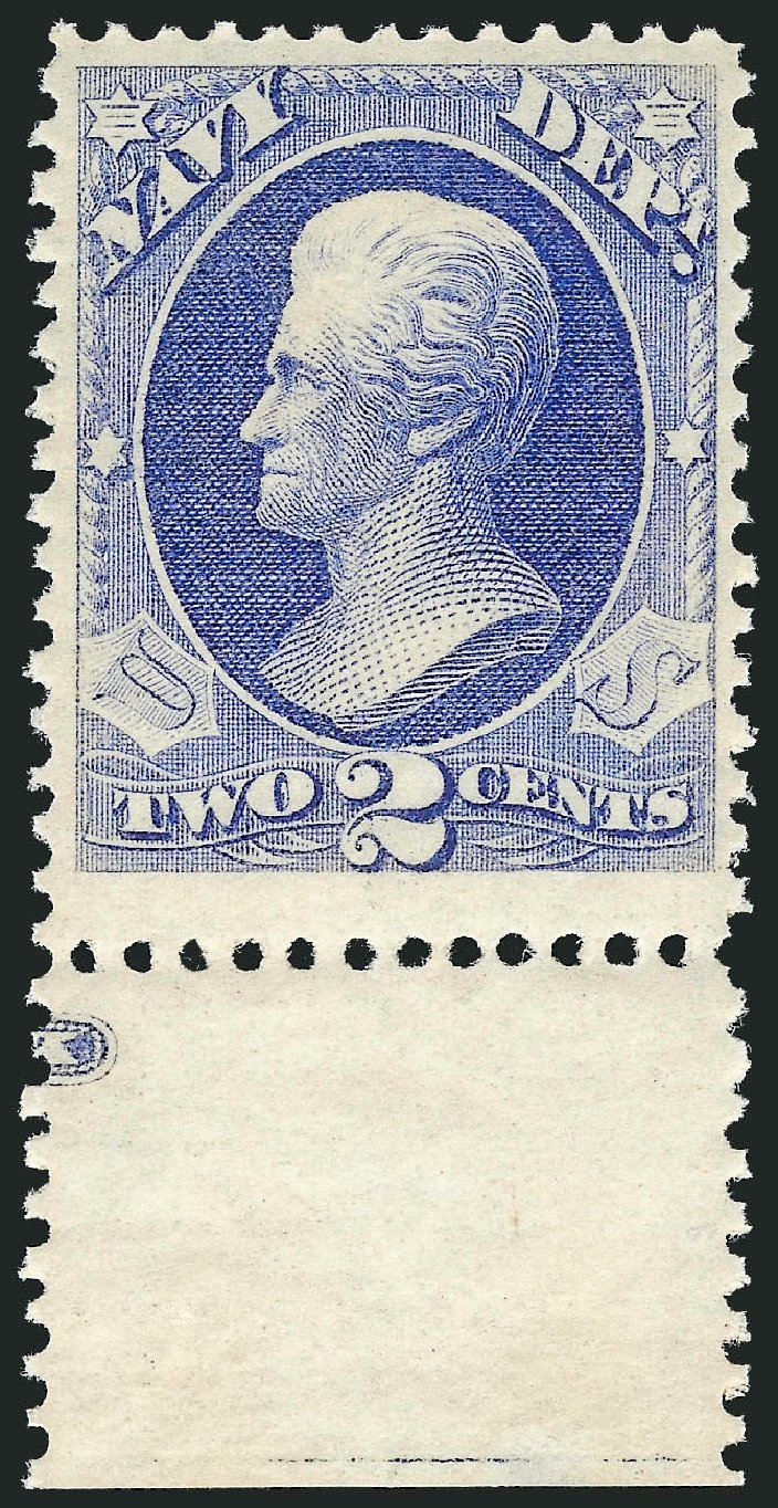 US Stamp Values Scott O36: 2c 1873 Navy Official. Robert Siegel Auction Galleries, Oct 2012, Sale 1033, Lot 4309