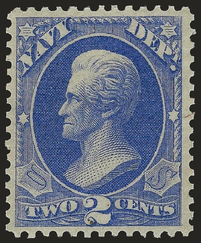Prices of US Stamp Scott Cat. #O36 - 1873 2c Navy Official. Robert Siegel Auction Galleries, Sep 2009, Sale 976, Lot 2329