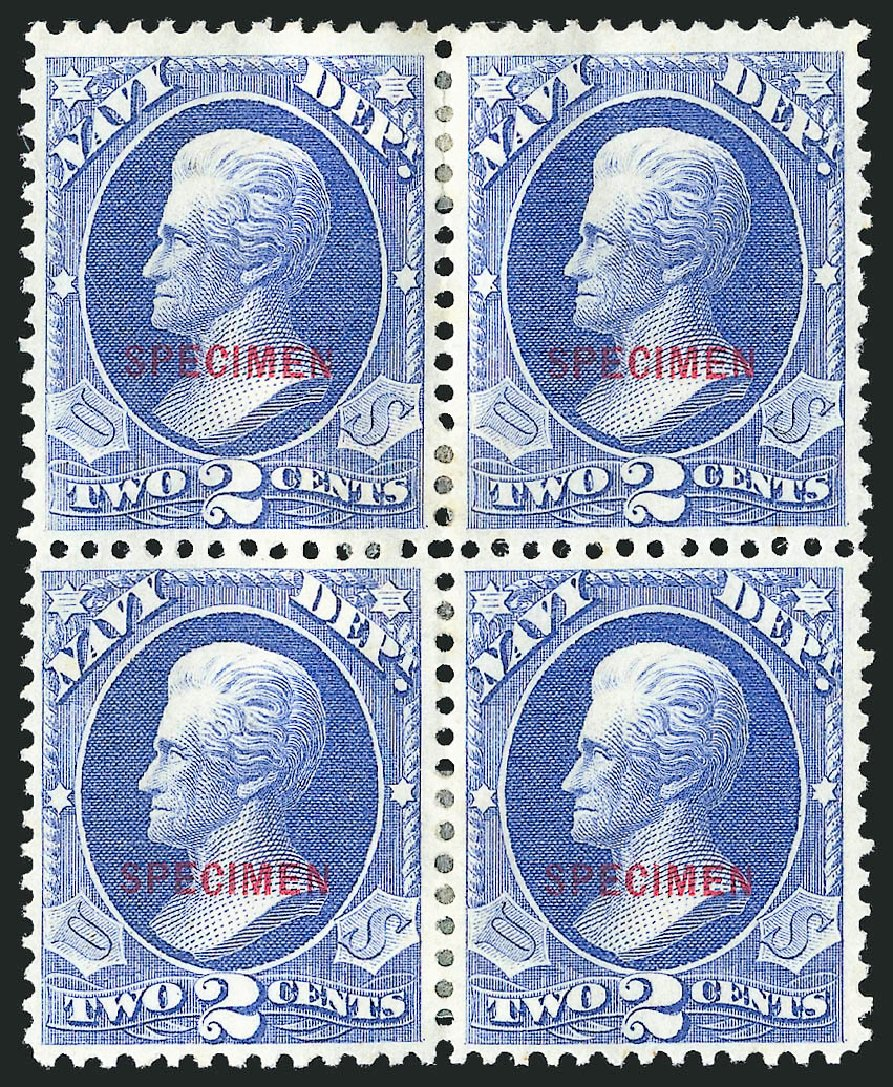 US Stamp Price Scott #O36: 1873 2c Navy Official. Robert Siegel Auction Galleries, Mar 2015, Sale 1095, Lot 580