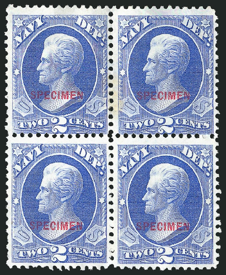 Values of US Stamps Scott Catalog # O36: 1873 2c Navy Official. Robert Siegel Auction Galleries, Mar 2015, Sale 1095, Lot 581