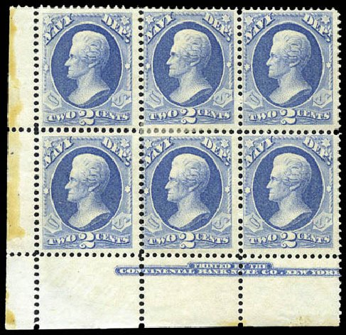 Cost of US Stamp Scott Catalogue #O36 - 2c 1873 Navy Official. Matthew Bennett International, Mar 2011, Sale 336, Lot 1404