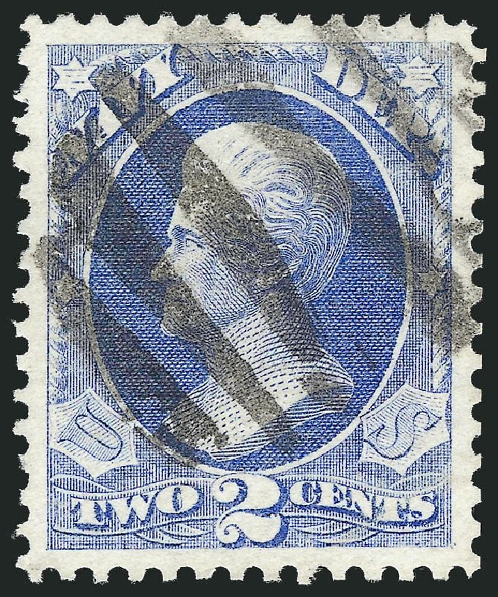 Cost of US Stamps Scott Catalog #O36 - 1873 2c Navy Official. Robert Siegel Auction Galleries, Oct 2012, Sale 1032, Lot 3664