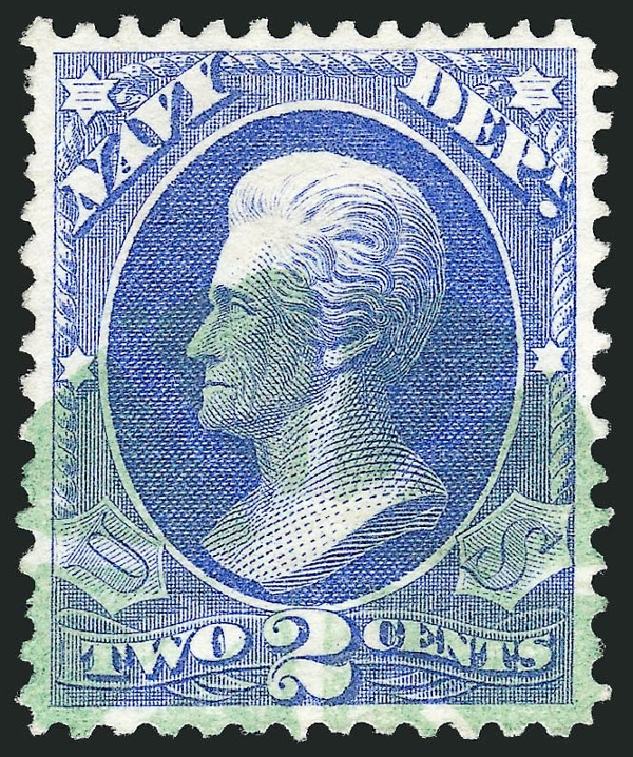 Value of US Stamps Scott Catalogue # O36: 1873 2c Navy Official. Robert Siegel Auction Galleries, Dec 2013, Sale 1062, Lot 835