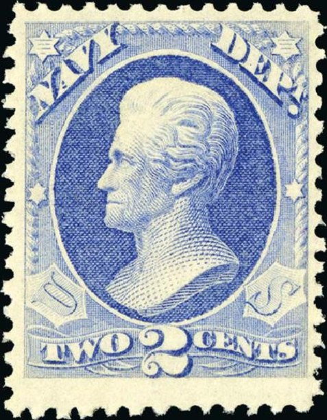 US Stamps Prices Scott Catalogue # O36 - 2c 1873 Navy Official. Spink Shreves Galleries, Jan 2015, Sale 150, Lot 252
