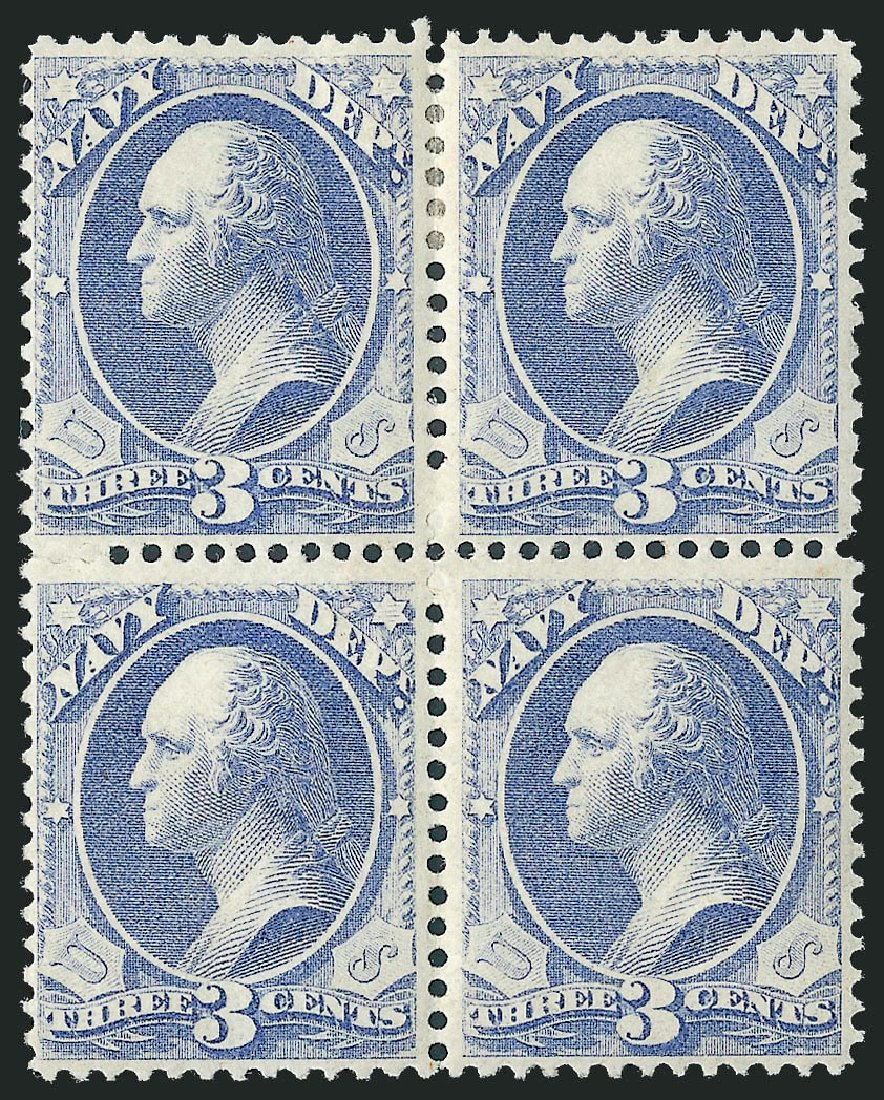 Price of US Stamps Scott Catalog #O37: 3c 1873 Navy Official. Robert Siegel Auction Galleries, Mar 2011, Sale 1007, Lot 3039
