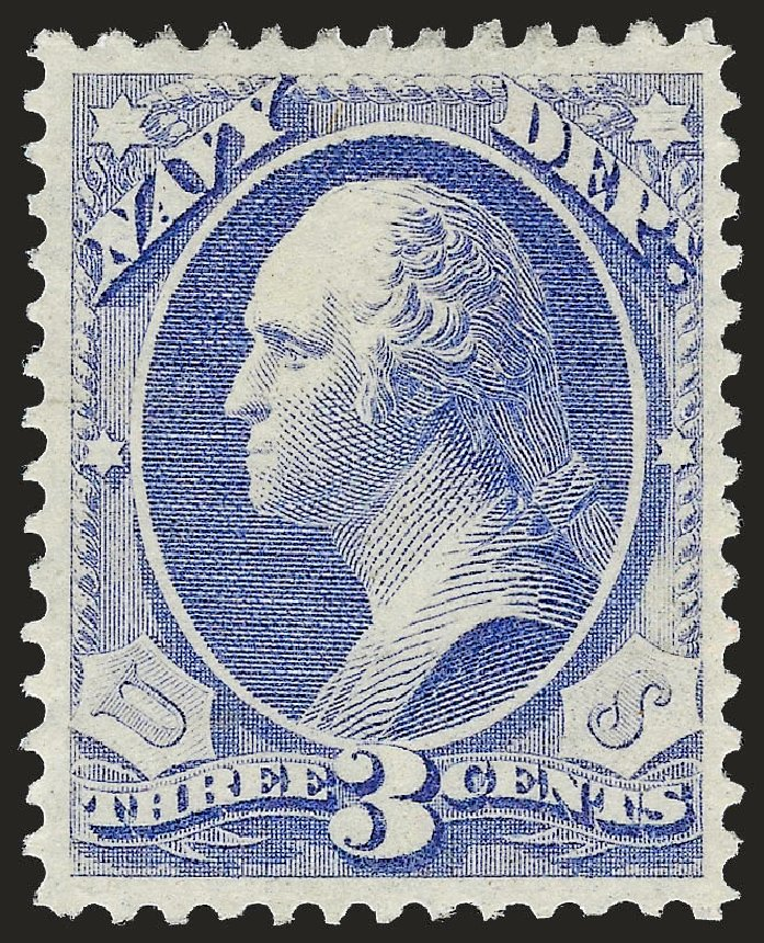 Cost of US Stamp Scott O37 - 1873 3c Navy Official. Robert Siegel Auction Galleries, Dec 2008, Sale 967, Lot 5153