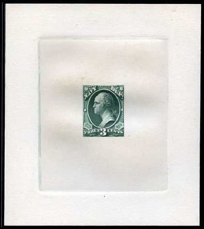Value of US Stamp Scott O37: 3c 1873 Navy Official. Matthew Bennett International, Mar 2012, Sale 344, Lot 4816
