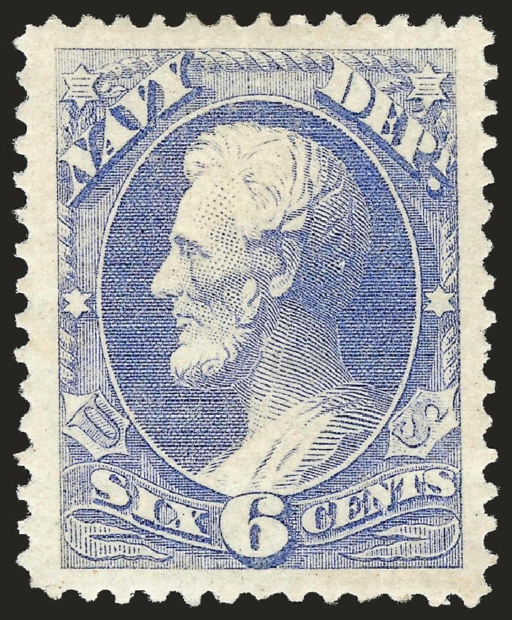 US Stamps Price Scott Cat. # O38 - 6c 1873 Navy Official. Robert Siegel Auction Galleries, Jun 2010, Sale 992, Lot 2638