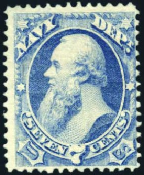 US Stamp Value Scott #O39 - 7c 1873 Navy Official. Harmer-Schau Auction Galleries, Mar 2011, Sale 89, Lot 418