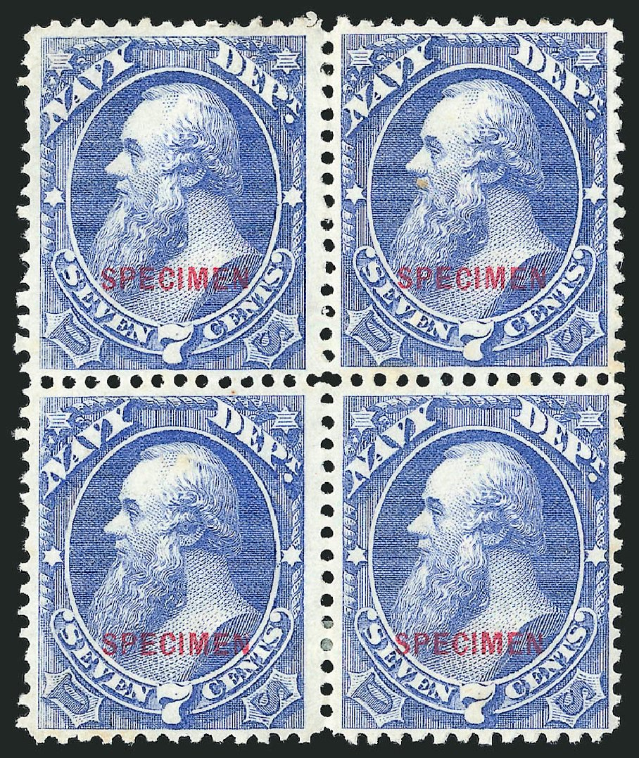 US Stamp Prices Scott Cat. # O39: 7c 1873 Navy Official. Robert Siegel Auction Galleries, Mar 2015, Sale 1095, Lot 582