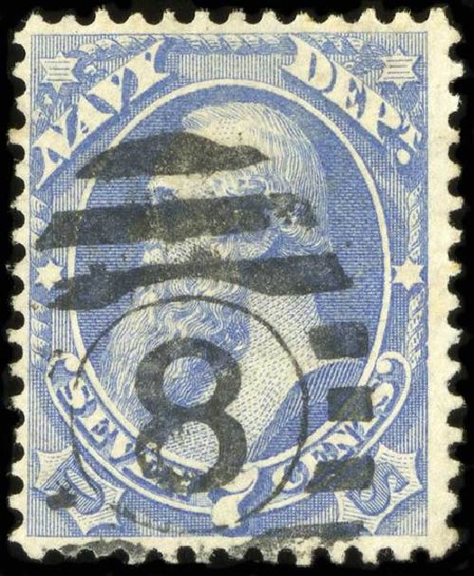 Value of US Stamp Scott O39: 1873 7c Navy Official. Spink Shreves Galleries, Jul 2015, Sale 151, Lot 392