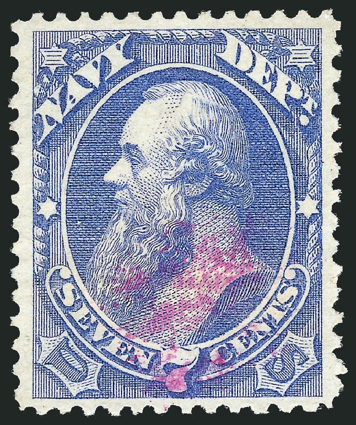 Prices of US Stamps Scott Cat. # O39 - 7c 1873 Navy Official. Robert Siegel Auction Galleries, Nov 2014, Sale 1085, Lot 4066