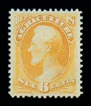 Price of US Stamps Scott Cat. # O4: 6c 1873 Agriculture Official. Matthew Bennett International, Jun 2007, Sale 319, Lot 1677