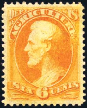 US Stamp Price Scott Catalogue #O4: 6c 1873 Agriculture Official. Harmer-Schau Auction Galleries, Aug 2011, Sale 90, Lot 1697