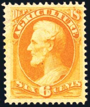 Price of US Stamp Scott Cat. #O4: 6c 1873 Agriculture Official. Harmer-Schau Auction Galleries, Aug 2011, Sale 90, Lot 1698