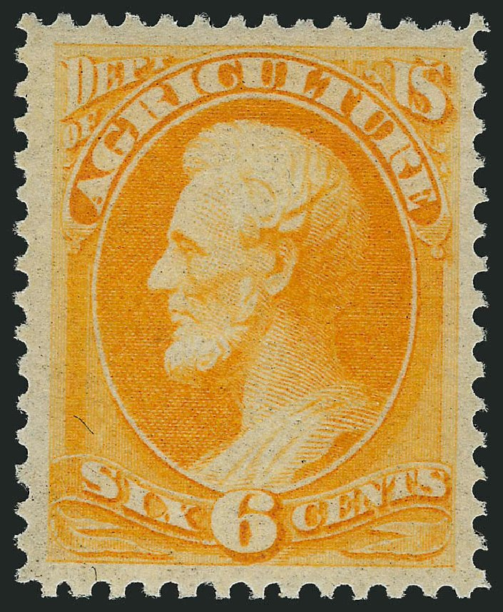 Prices of US Stamp Scott O4: 1873 6c Agriculture Official. Robert Siegel Auction Galleries, Feb 2015, Sale 1092, Lot 1449