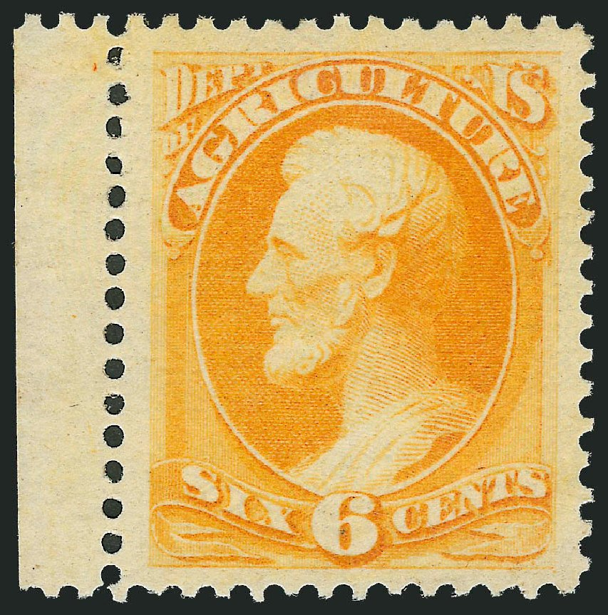 Cost of US Stamp Scott Catalogue # O4: 6c 1873 Agriculture Official. Robert Siegel Auction Galleries, Jul 2013, Sale 1050, Lot 765