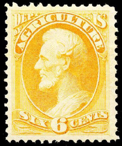 Prices of US Stamps Scott Catalog #O4: 1873 6c Agriculture Official. Matthew Bennett International, Apr 2008, Sale 326, Lot 673