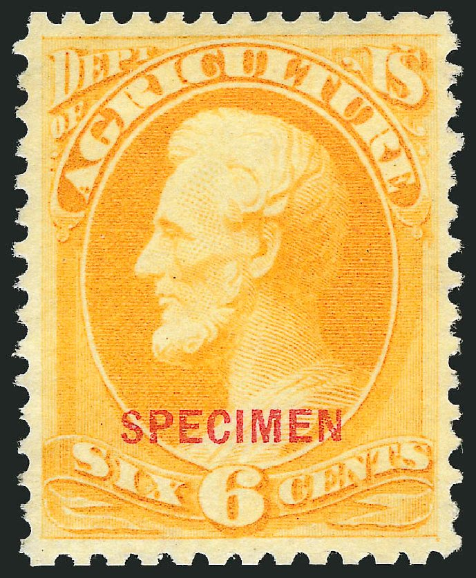 Prices of US Stamp Scott Catalogue O4: 6c 1873 Agriculture Official. Robert Siegel Auction Galleries, Mar 2015, Sale 1095, Lot 506