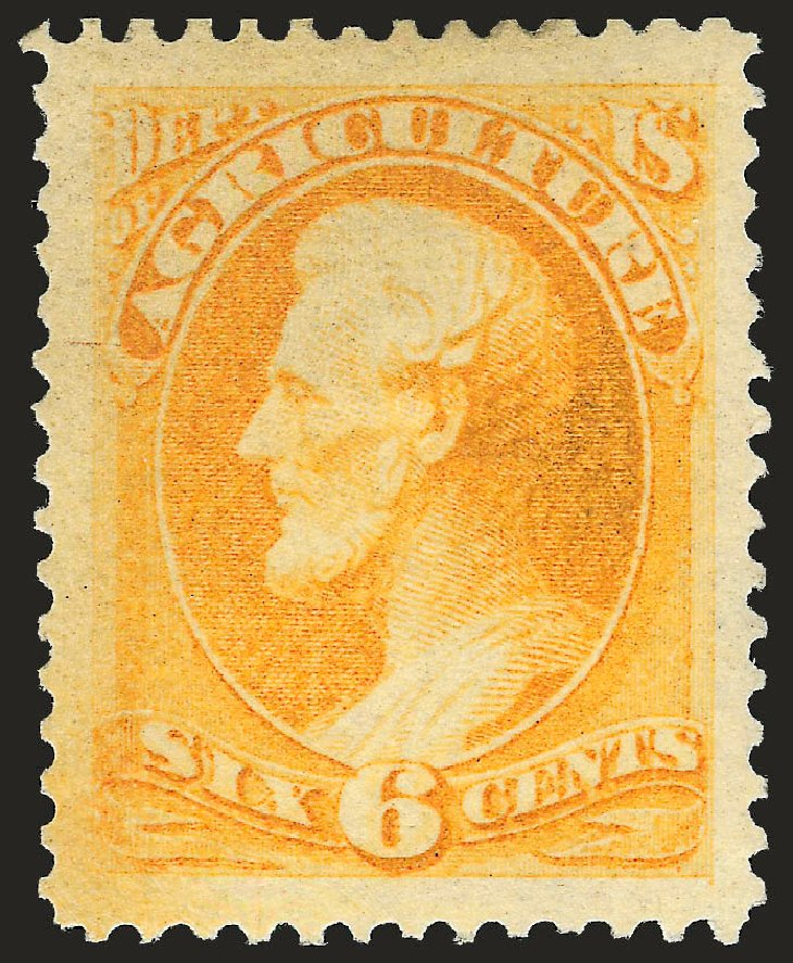 Price of US Stamps Scott # O4: 1873 6c Agriculture Official. Robert Siegel Auction Galleries, Jun 2010, Sale 992, Lot 2626