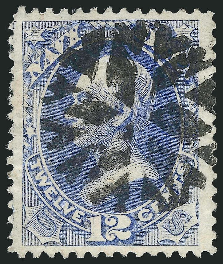 Value of US Stamp Scott Cat. O41: 1873 12c Navy Official. Robert Siegel Auction Galleries, Oct 2012, Sale 1032, Lot 3669