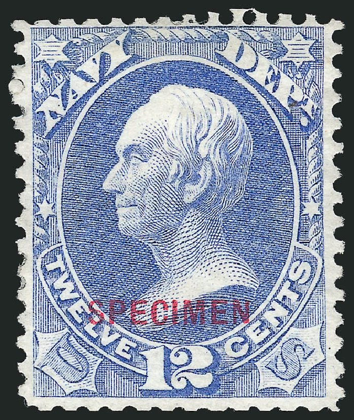 Prices of US Stamp Scott O41: 1873 12c Navy Official. Robert Siegel Auction Galleries, Mar 2015, Sale 1095, Lot 575