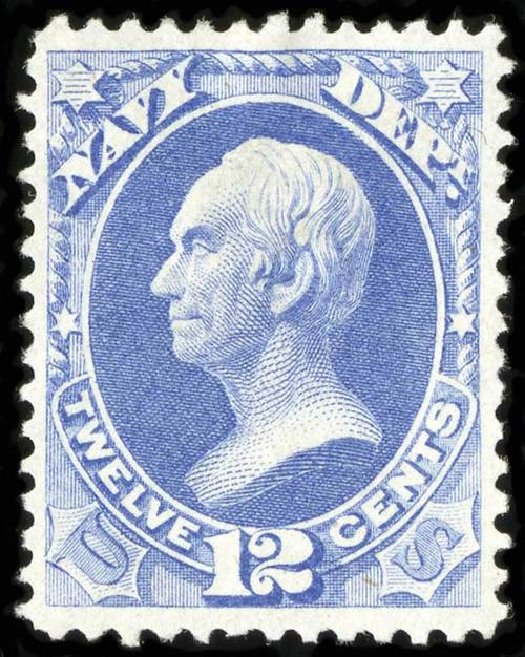 US Stamps Value Scott Cat. # O41 - 12c 1873 Navy Official. Spink Shreves Galleries, Jul 2015, Sale 151, Lot 393