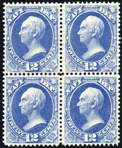 Costs of US Stamp Scott Catalogue O41: 12c 1873 Navy Official. Harmer-Schau Auction Galleries, Aug 2011, Sale 90, Lot 1726