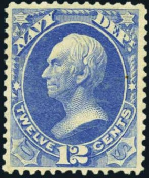 US Stamp Prices Scott Cat. #O41: 12c 1873 Navy Official. Harmer-Schau Auction Galleries, Aug 2012, Sale 94, Lot 1806
