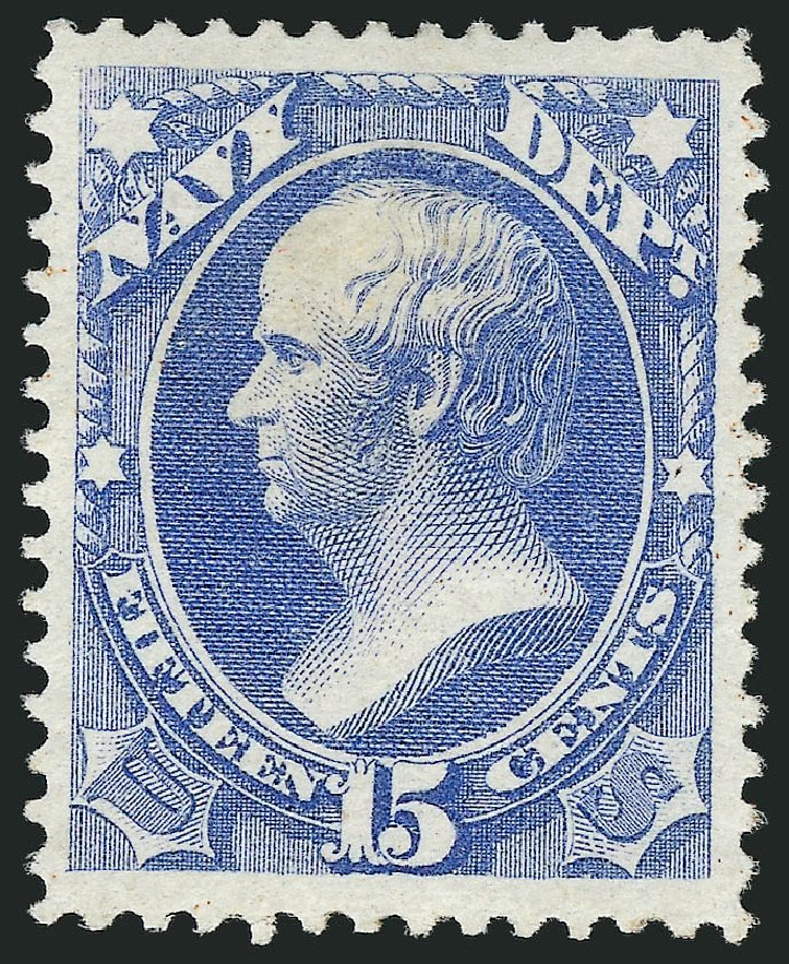Value of US Stamp Scott Cat. # O42: 15c 1873 Navy Official. Robert Siegel Auction Galleries, Nov 2014, Sale 1085, Lot 4068