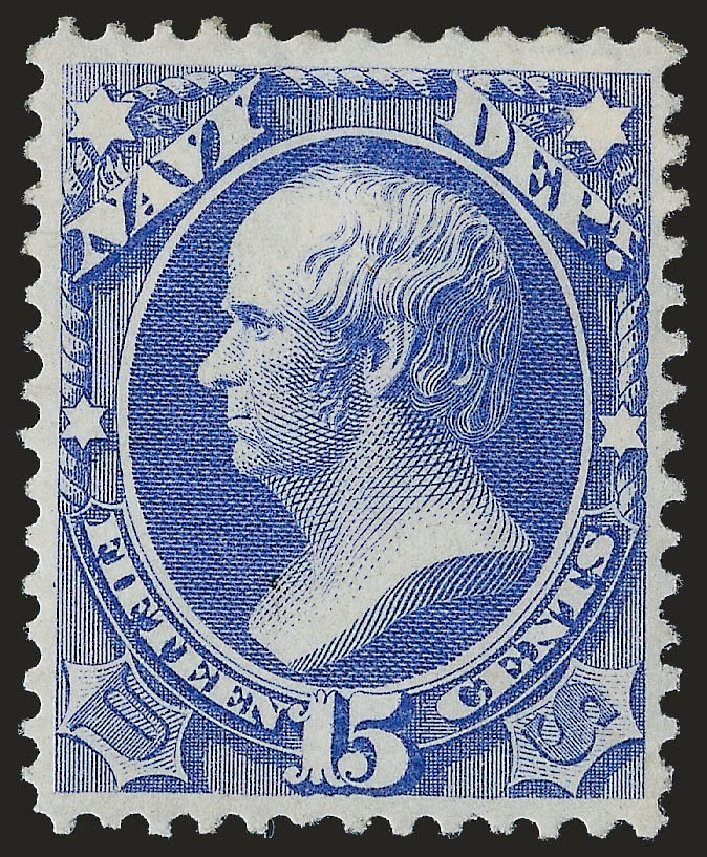 Values of US Stamps Scott Catalogue # O42 - 1873 15c Navy Official. Robert Siegel Auction Galleries, Sep 2009, Sale 976, Lot 2330