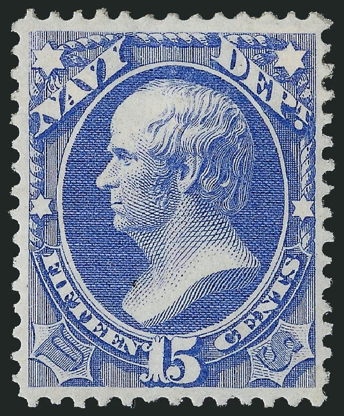 US Stamps Prices Scott Cat. # O42: 15c 1873 Navy Official. Robert Siegel Auction Galleries, Oct 2011, Sale 1014, Lot 2351