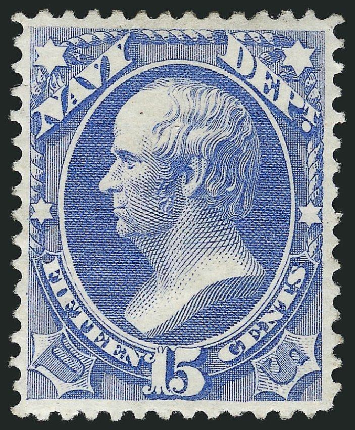 Costs of US Stamp Scott Catalogue # O42 - 15c 1873 Navy Official. Robert Siegel Auction Galleries, Mar 2014, Sale 1067, Lot 1714