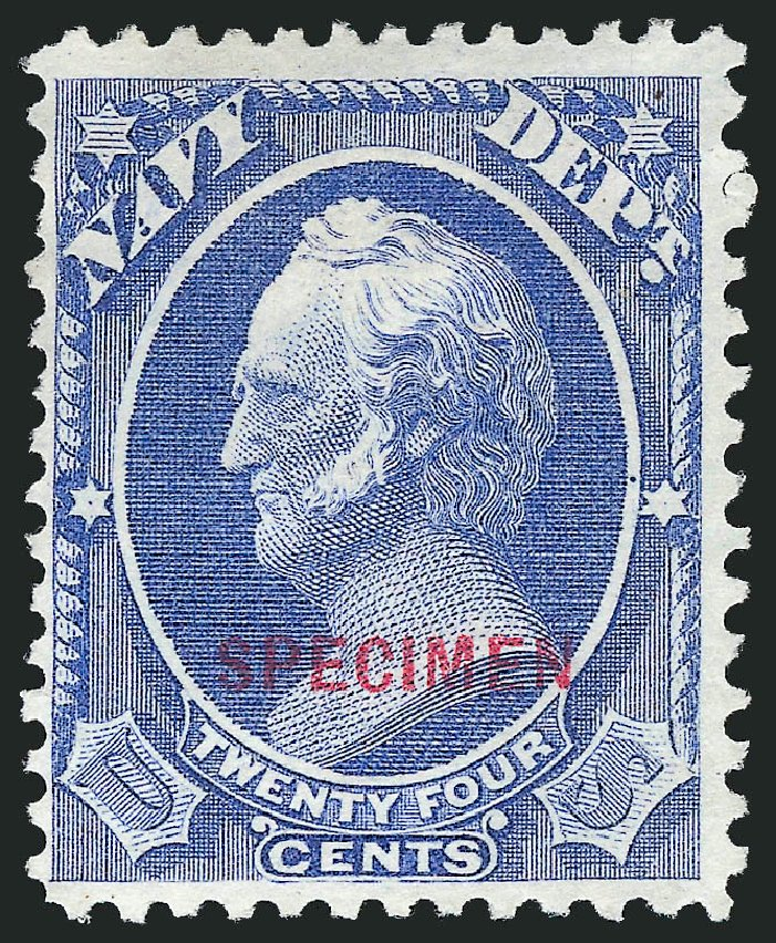 Price of US Stamp Scott # O43: 24c 1873 Navy Official. Robert Siegel Auction Galleries, Mar 2015, Sale 1095, Lot 577