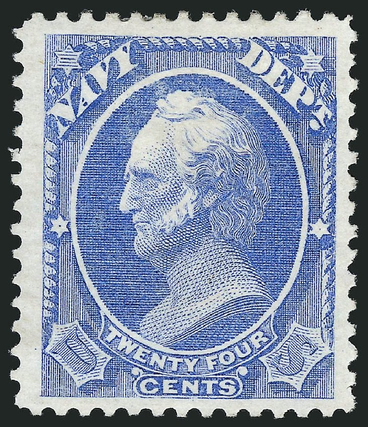 US Stamp Prices Scott # O43 - 24c 1873 Navy Official. Robert Siegel Auction Galleries, Nov 2014, Sale 1085, Lot 4069