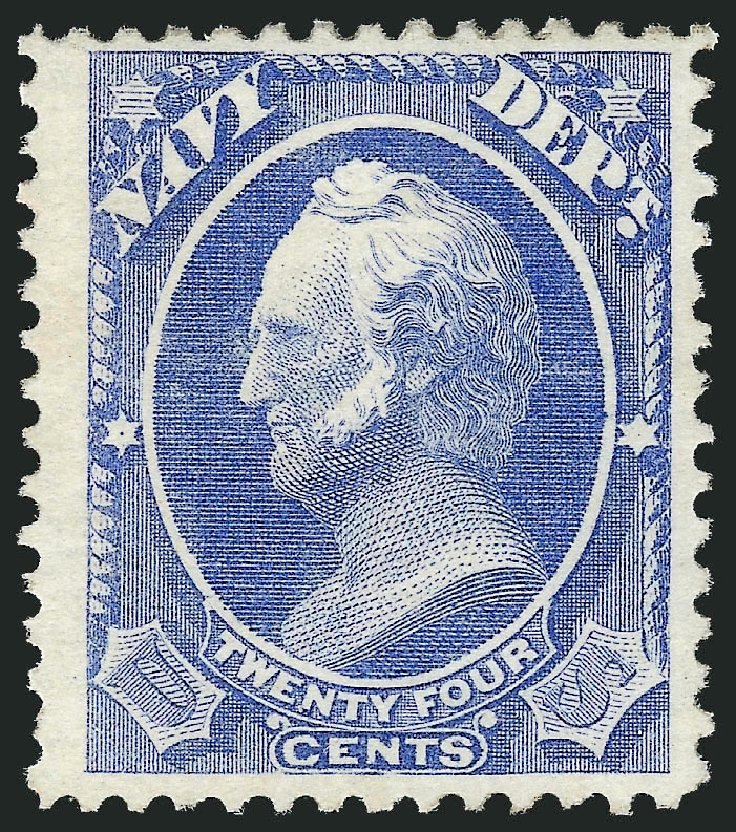 Costs of US Stamps Scott Catalog #O43: 24c 1873 Navy Official. Robert Siegel Auction Galleries, Oct 2012, Sale 1033, Lot 4310