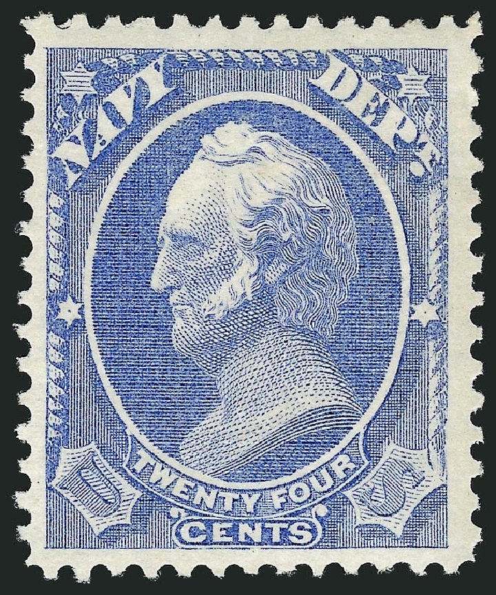 US Stamp Prices Scott #O43: 1873 24c Navy Official. Robert Siegel Auction Galleries, Sep 2014, Sale 1078, Lot 664