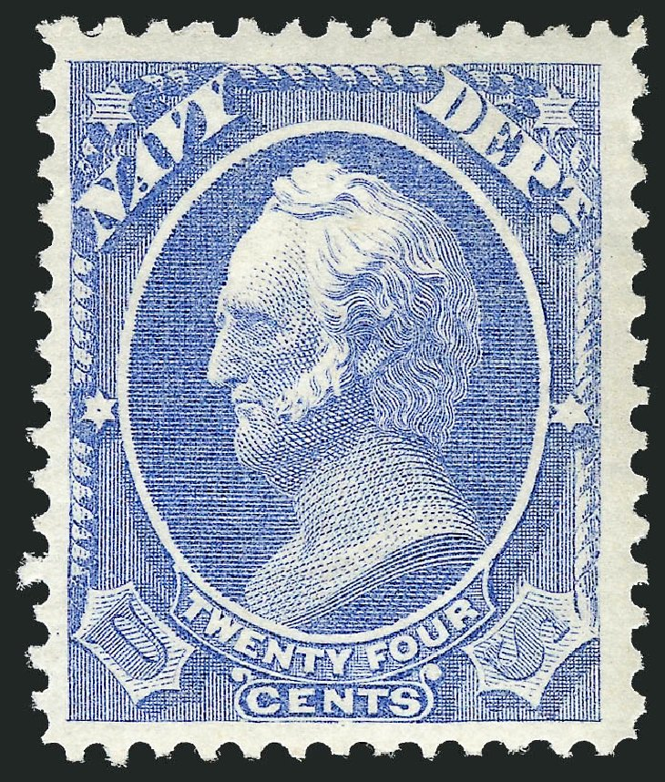 US Stamps Prices Scott Cat. #O43: 1873 24c Navy Official. Robert Siegel Auction Galleries, Mar 2014, Sale 1067, Lot 1715