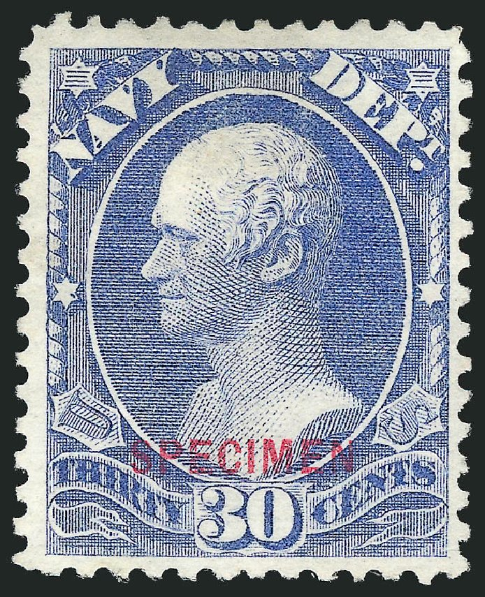 US Stamp Price Scott Catalog # O44 - 30c 1873 Navy Official. Robert Siegel Auction Galleries, Mar 2015, Sale 1095, Lot 578