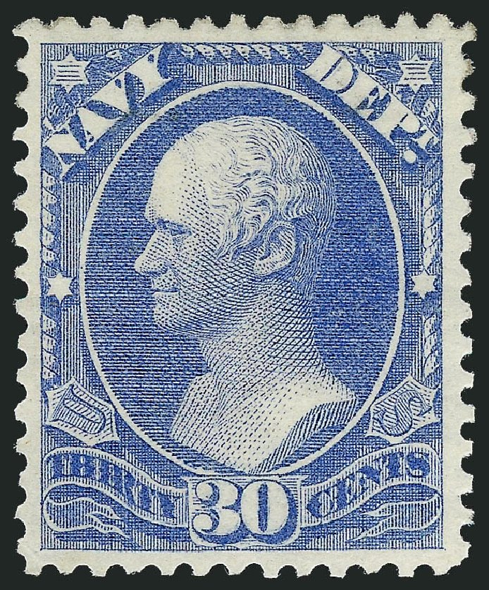 Price of US Stamp Scott Catalogue # O44: 30c 1873 Navy Official. Robert Siegel Auction Galleries, Oct 2010, Sale 997, Lot 6270