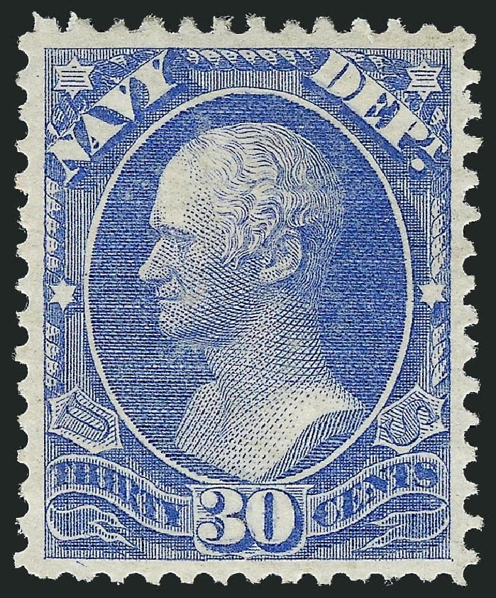 Price of US Stamps Scott Cat. # O44: 30c 1873 Navy Official. Robert Siegel Auction Galleries, Jun 2012, Sale 1026, Lot 1542